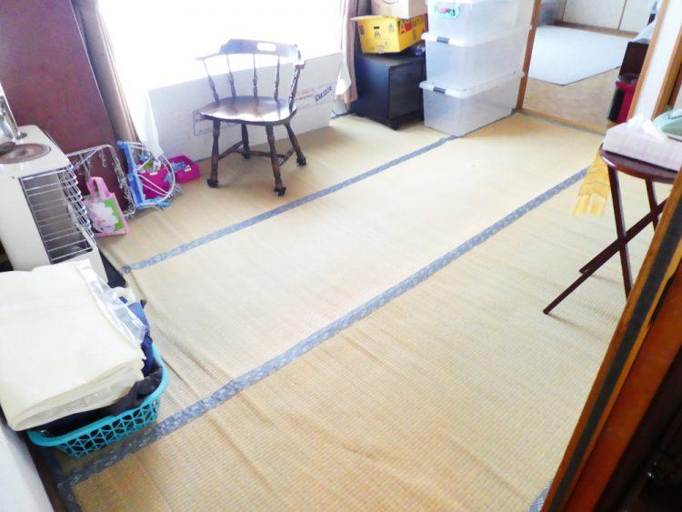 小野寺住設和室フローリング化工事ビフォー