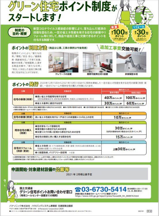 小野寺住設のグリーン住宅ポイント制度・裏