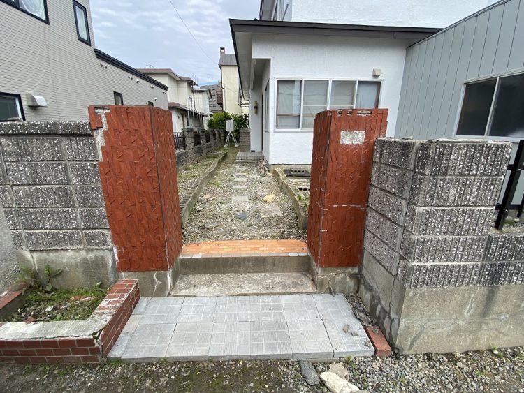 小野寺住設の舗装(ビフォー)